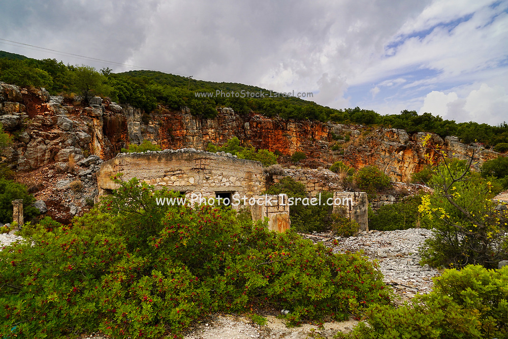 An abandoned stone quarry on the Greek Island of Cephalonia, Ionian Sea, Greece