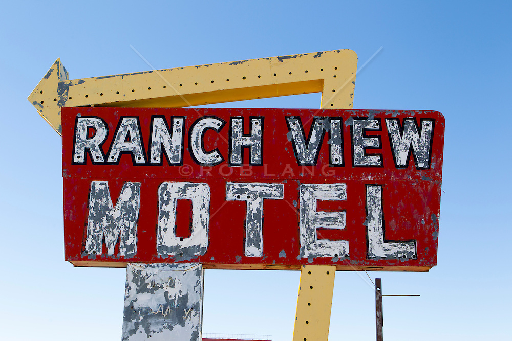 old motel sign on Route 66 in New Mexico