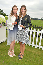 Left to right, LADY TATIANA MOUNTBATTEN and LOUISA WENTWORTH-STANLEY at the Cartier Queen's Cup Polo final at Guard's Polo Club, Smiths Lawn, Windsor Great Park, Egham, Surrey on 14th June 2015