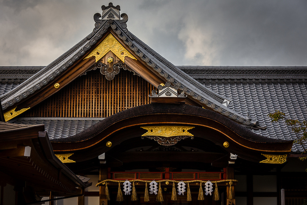 Even though the main attraction in Fushimi Inari Shinto Shrine are the countless rows of red tori gates, other beautiful details like this rooftop should not be overlooked.