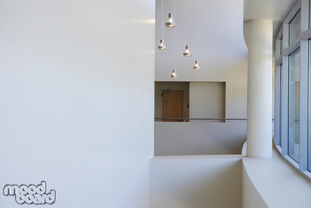 Empty office building interior