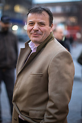 © Licensed to London News Pictures . 06/02/2017. Stoke-on-Trent, UK. ARRON BANKS seen outside the UKIP shop in Hanley this afternoon , 6th February 2017 . Former UKIP leader Nigel Farage will join current leader Paul Nuttall at a public meeting at Victoria Hall in Hanley , during Nuttall's campaign to win the seat of Stoke-on-Trent Central . Photo credit: Joel Goodman/LNP