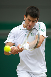 LONDON, ENGLAND - Friday, June 25, 2010: Novak Djokovic (SRB) during the Gentlemen's Singles 3rd Round on day five of the Wimbledon Lawn Tennis Championships at the All England Lawn Tennis and Croquet Club. (Pic by David Rawcliffe/Propaganda)