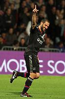 FOOTBALL - UEFA EUROPA LEAGUE 2012/2013 - GROUP STAGE - GROUP I - OLYMPIQUE LYONNAIS v SPARTA PRAHA - 20/09/2012 - PHOTO EDDY LEMAISTRE / DPPI - JOY OF LISANDRO LOPEZ  (OL)