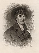 Henry Mackenzie (1745-1831) Scottish novelist, playwright, poet, editor and writer, born in Edinburgh.   Engraving from 'Peter's Letters to his Kinsfolk' by Peter Morris (Edinburgh, 1819).