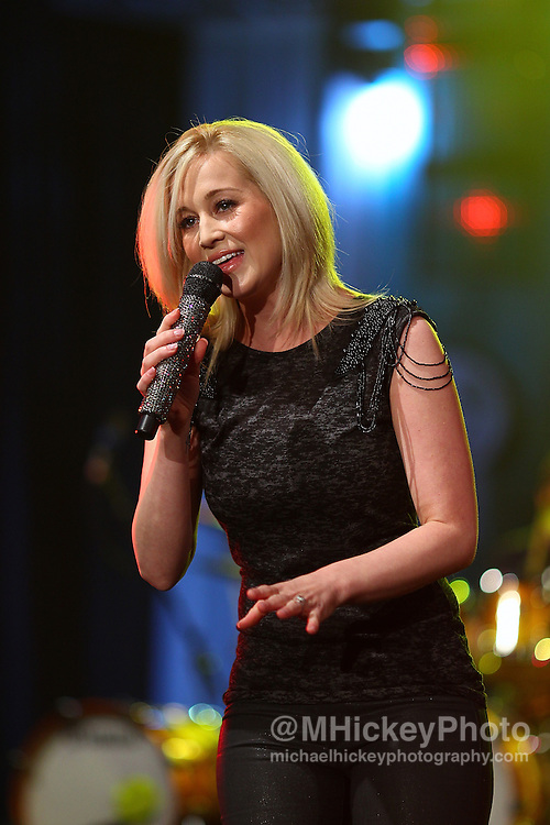 Country music artist Kellie Pickler performs at Tourney Town in the Indiana Convention Center during the NCAA women's Final Four weekend in Indianapolis, Indiana..By Michael Hickey, concert photography