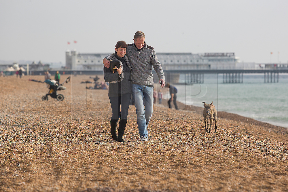 Brighton, UK. 30/10/2016, Members of the public enjoy Sunday morning on the beach in Brighton. Photo Credit: Hugo Michiels