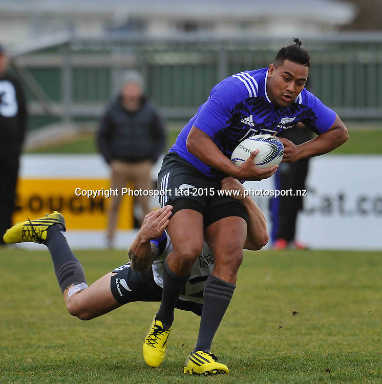 Julian Savea  is tackled by Sonny Bill Williams during the All Blacks Training Session before the Rugby Championship match against Argentina, Christchurch, 15 July 2015. Copyright Photo: John Davidson / www.photosport.nz