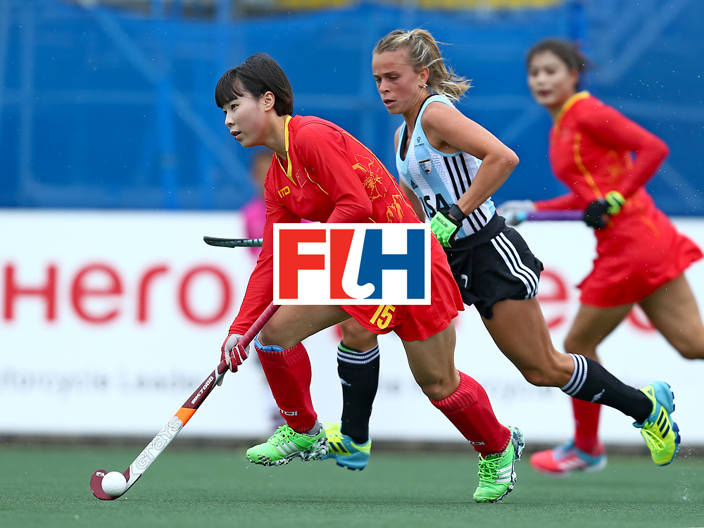 New Zealand, Auckland - 18/11/17  <br /> Sentinel Homes Women&rsquo;s Hockey World League Final<br /> Harbour Hockey Stadium<br /> Copyrigth: Worldsportpics, Rodrigo Jaramillo<br /> Match ID: 10294 - ARG vs CHN<br /> Photo: (15) ZHANG Jinrong