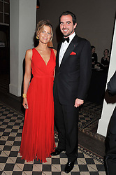 PRINCE & PRINCESS NIKOLAOS OF GREECE at the Red & Black Valentine's Dinner & Dance in aid of The Eve Appeal at One Mayfair, North Audley Street, London W1 on 14th February 2013.