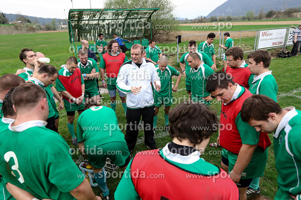 Head coach Zoran Kalakovic of Slovenia during rugby match between National team of Slovenia (green) and Austria (black) at EUROPEAN NATIONS CUP 2012-2014 of C group 2nd division, on April 20, 2013, in Stanezice, Ljubljana, Slovenia. (Photo by Matic Klansek Velej / Sportida.com),