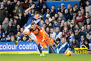 Birmingham City midfielder Stephen Gleeson fouls Ipswich Town midfielder Ryan Fraser during the Sky Bet Championship match between Birmingham City and Ipswich Town at St Andrews, Birmingham, England on 23 January 2016. Photo by Alan Franklin.