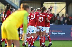 Bristol City Women celebrate - Mandatory by-line: Paul Knight/JMP - 17/11/2018 - FOOTBALL - Stoke Gifford Stadium - Bristol, England - Bristol City Women v Liverpool Women - FA Women's Super League 1