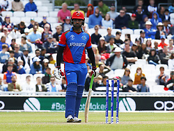 May 27, 2019 - London, England, United Kingdom - Noor Ali Zadran of Afghanistan.during ICC Cricket World Cup - Warm - Up between England and Afghanistan at the Oval Stadium , London,  on 27 May 2019. (Credit Image: © Action Foto Sport/NurPhoto via ZUMA Press)
