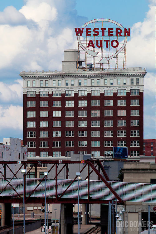 Downtown Kansas City's Western Auto building