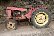 old broken down tractor
