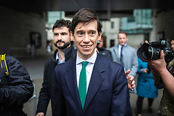 © Licensed to London News Pictures. 19/05/2019. London, UK. Secretary of State for International Development Rory Stewart leaves BBC Broadcasting House after appearing on The Andrew Marr Show. Photo credit: Rob Pinney/LNP