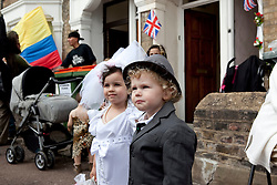 LOCATION, UK  29/04/2011. The Royal Wedding of HRH Prince William to Kate Middleton.East London Street Parties..Photographer Andrew Baker/LNP. Please see special instructions. © under license to London News Pictures