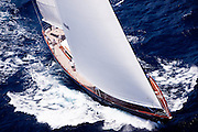 Axia sailing in the 2011 St. Barths Bucket Regatta Race 3.