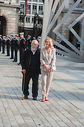 SIR PETER BLAKE; LADY BLAKE, Celebration of the Arts. Royal Academy. Piccadilly. London. 23 May 2012.
