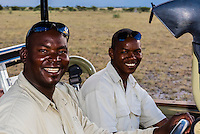 A safari guide and tracker, Nxai Pan National Park, Botswana.