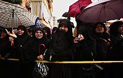 Female supporters weep as they pay their respects to  slain militant commander Imad Mugniyeh, in Beirut, Lebanon on Feb. 14, 2008. Imad Mugniyeh was killed in a mysterious car bombing in Damascus, Syria. Mugniyeh a.k.a. Hajj Radwan, was among the most feared terror operatives in the world.