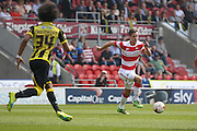 Doncaster Rovers defender Mitchell Lund (2)  during the Sky Bet League 1 match between Doncaster Rovers and Burton Albion at the Keepmoat Stadium, Doncaster, England on 8 May 2016. Photo by Simon Davies.