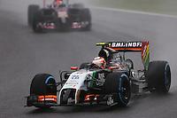 Sergio Perez (MEX) Sahara Force India F1 VJM07.<br /> Japanese Grand Prix, Sunday 5th October 2014. Suzuka, Japan.