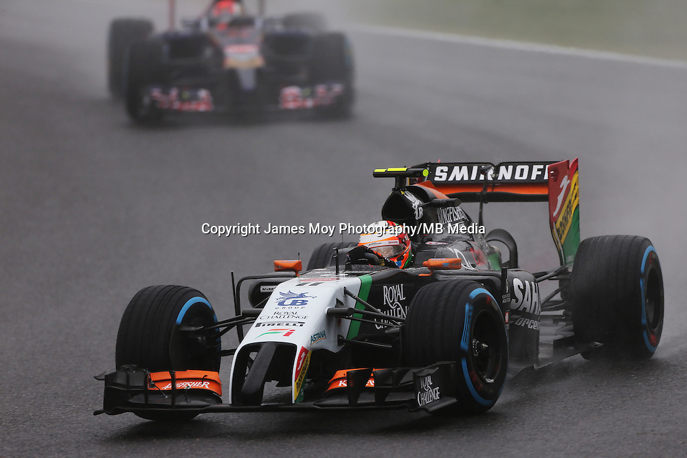 Sergio Perez (MEX) Sahara Force India F1 VJM07.<br /> Japanese Grand Prix, Sunday 5th October 2014. Suzuka, Japan.