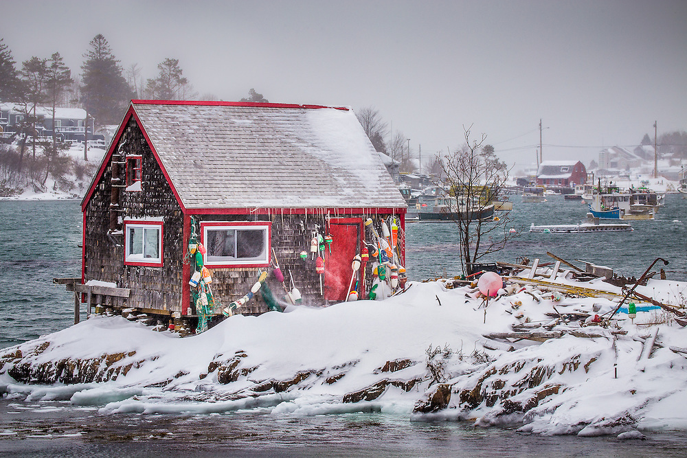 After nearly succumbing to the elements and being relegated to history, the famous fishing shack in Mackerel Cove was restored in the last year and proudly stands renewed.