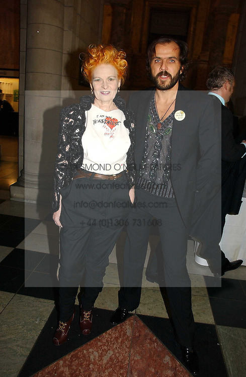 VIVIENNE WESTWOOD and her husband MR ANDREAS KRONTHALER at the British Fashion Awards 2006 sponsored by Swarovski held at the V&A Museum, Cromwell Road, London SW7 on 2nd November 2006.<br />