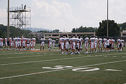 The Virginia Cavaliers football team held their first open practice of the 2007 season on the practice fields next to the University of Virginia's McCue Center in Charlottesville, VA on August 10, 2007.