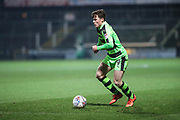 Forest Green Rovers Alex Whittle(19) on the ball during the EFL Trophy 3rd round match between Yeovil Town and Forest Green Rovers at Huish Park, Yeovil, England on 9 January 2018. Photo by Shane Healey.