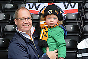 Wolves fans during the Sky Bet Championship match between Derby County and Wolverhampton Wanderers at the iPro Stadium, Derby, England on 18 October 2015. Photo by Alan Franklin.