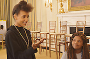 Esperanza Spaulding with invited students as a guest of Michelle Obama at the White House