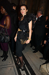 LARA BOHINC at the British Fashion Awards 2006 sponsored by Swarovski held at the V&A Museum, Cromwell Road, London SW7 on 2nd November 2006.<br />