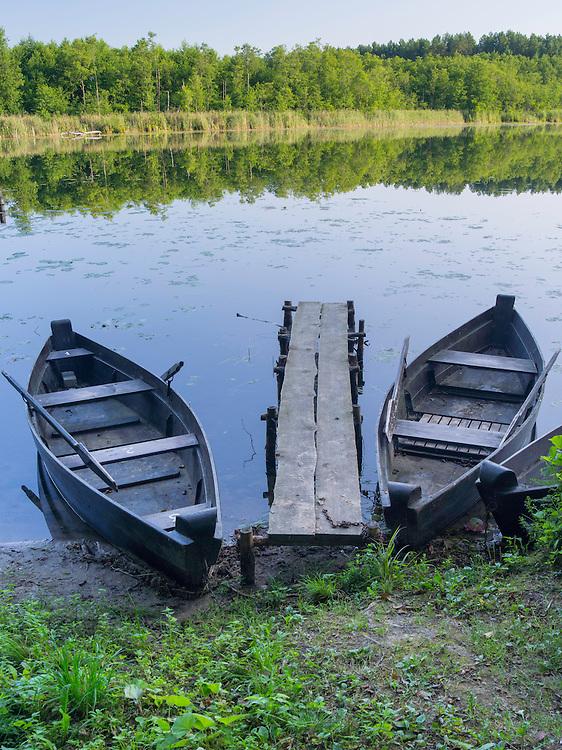 Morning on a lake in Lithuania; Trikojis, Bertašiūnia, Lithuania