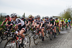 Leah Kirchmann (CAN) in the peloton in the early kilometres at Brabantse Pijl 2018, a 136.8 km road race starting and finishing in Gooik on April 11, 2018. Photo by Sean Robinson/Velofocus.com