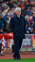 STOKE-ON-TRENT, ENGLAND - Wednesday, November 29, 2017: Stoke City's manager Mark Hughes during the FA Premier League match between Stoke City and Liverpool at the <br /> Bet365 Stadium. (Pic by David Rawcliffe/Propaganda)