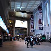 Fans arriving at Yankee Stadium for the New York City FC Vs Sporting Kansas City, MSL regular season football match at Yankee Stadium, The Bronx, New York,  USA. 27th March 2015. Photo Tim Clayton