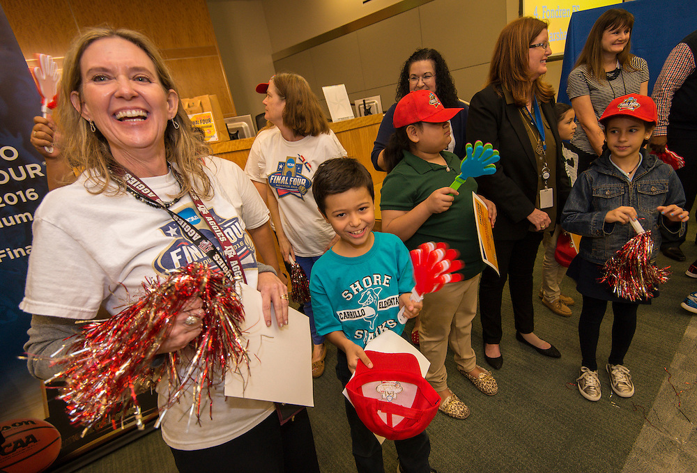 Carrillo Elementary School is recognizedduring the reveal of the 32 finalists in the Houston ISD NCAA Read to the Final Four, November 11, 2015.
