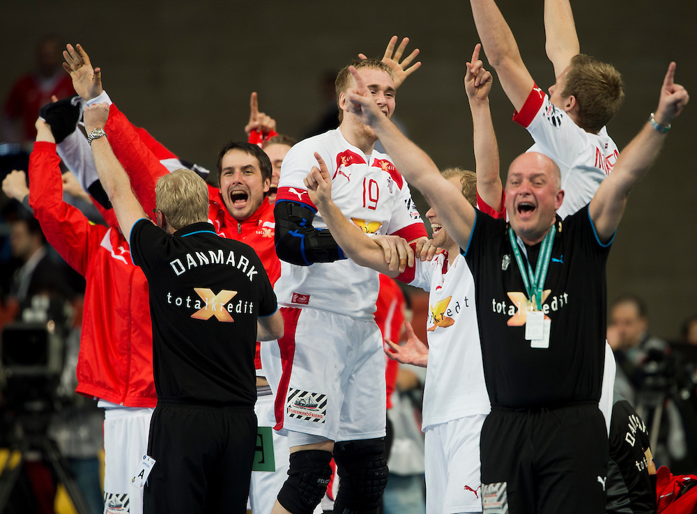 Spain - Barcelona..25/01/13.Handball World Cup semi-final:  Denmark - Croatia...Photo: Johnny Wichmann / billedbyroet
