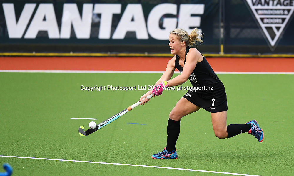 Erin Goad.<br /> Vantage Black Sticks Women vs India. International Hockey. Gallagher Hockey Centre. Hamilton. New Zealand. Friday 19 May 2017 &copy; Copyright Photo: Andrew Cornaga / www.photosport.nz