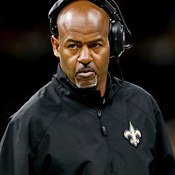 Sep 22, 2013; New Orleans, LA, USA; New Orleans Saints wide receivers coach Henry Ellard during a game against the Arizona Cardinals at Mercedes-Benz Superdome. The Saints defeated the Cardinals 31-7. Mandatory Credit: Derick E. Hingle-USA TODAY Sports