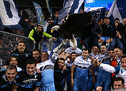 March 2, 2019 - Rome, Lazio, Italy - SS Lazio v As Roma : Serie A.Lazio celebration at the end of the match at Olimpico Stadium in Rome, Italy on March 2, 2019. (Credit Image: © Matteo Ciambelli/NurPhoto via ZUMA Press)