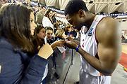 DESCRIZIONE : Roma Eurocup 2014/15 Acea Roma Baloncesto Seville<br /> GIOCATORE : Melvin Ejim<br /> CATEGORIA : esultanza postgame<br /> SQUADRA : Acea Roma<br /> EVENTO : Eurocup 2014/15<br /> GARA : Acea Roma Baloncesto Seville<br /> DATA : 29/10/2014<br /> SPORT : Pallacanestro <br /> AUTORE : Agenzia Ciamillo-Castoria /GiulioCiamillo<br /> Galleria : Acea Roma Baloncesto Seville<br /> Fotonotizia : Roma Eurocup 2014/15 Acea Roma Baloncesto Seville<br /> Predefinita :