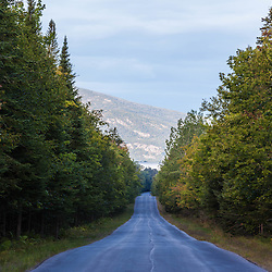 Grand Lake Road, part of the International Appalachian Trail near the north entrance to Bacter State Park.