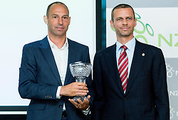 Andrej Poljsak of NK Koper and Aleksander Ceferin, president of NZS during NZS Draw for season 2015/16 on June 23, 2015 in Brdo pri Kranju, Slovenia. Photo by Vid Ponikvar / Sportida