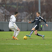 Dundee&rsquo;s Greg Stewart and Dumbarton&rsquo;s Gregor Buchanan - Dumbarton v Dundee, William Hill Scottish Cup fifth round at The Cheaper Insurance Direct Stadium <br /> <br />  - &copy; David Young - www.davidyoungphoto.co.uk - email: davidyoungphoto@gmail.com