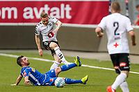 Fotball , 16. mai 2018 , Eliteserien<br /> Odd - Sandefjord<br /> Fredrik Nordkvelle, Odd<br /> Pau Morer Vicente, Sandefjord<br /> Foto: Christoffer Hansen , Digitalsport